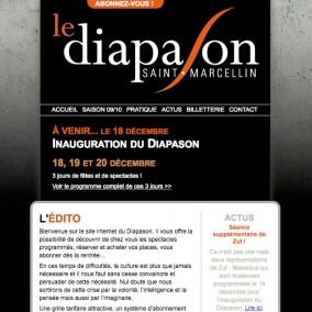 Page d'accueil du site www.diapason-saint-marcellin.fr