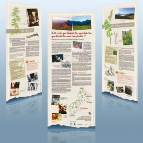 Panneaux d'exposition pour Jardins du Monde Montagne