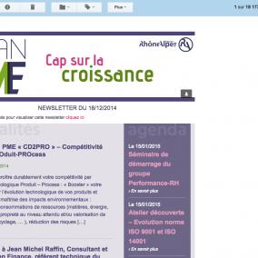 Newsletter Agence web Valence Grenoble intégration