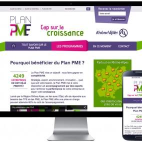 Plan PME Rhône-Alpes - site responsive - agence web communication Valence