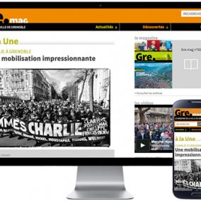 Site responsive - Grenoble - Valence - ville - journal