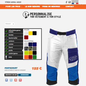 Magasin tenues parachute WordPress e-commerce boutique