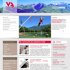 SIte institutionnel intercommunalité Savoie Wordpress