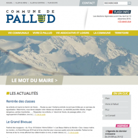 Site wordpress pour petite commune - Savoie