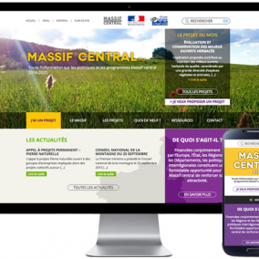 Un site wordpress institutionnel pour le Massif Central